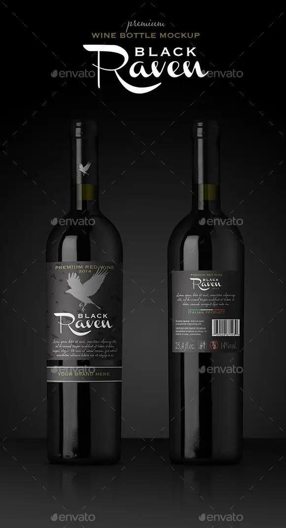 Premium Red Wine Mockup 38 Wine Bottle