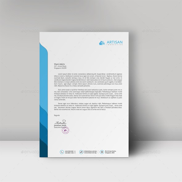 Free Letterhead Design In Word