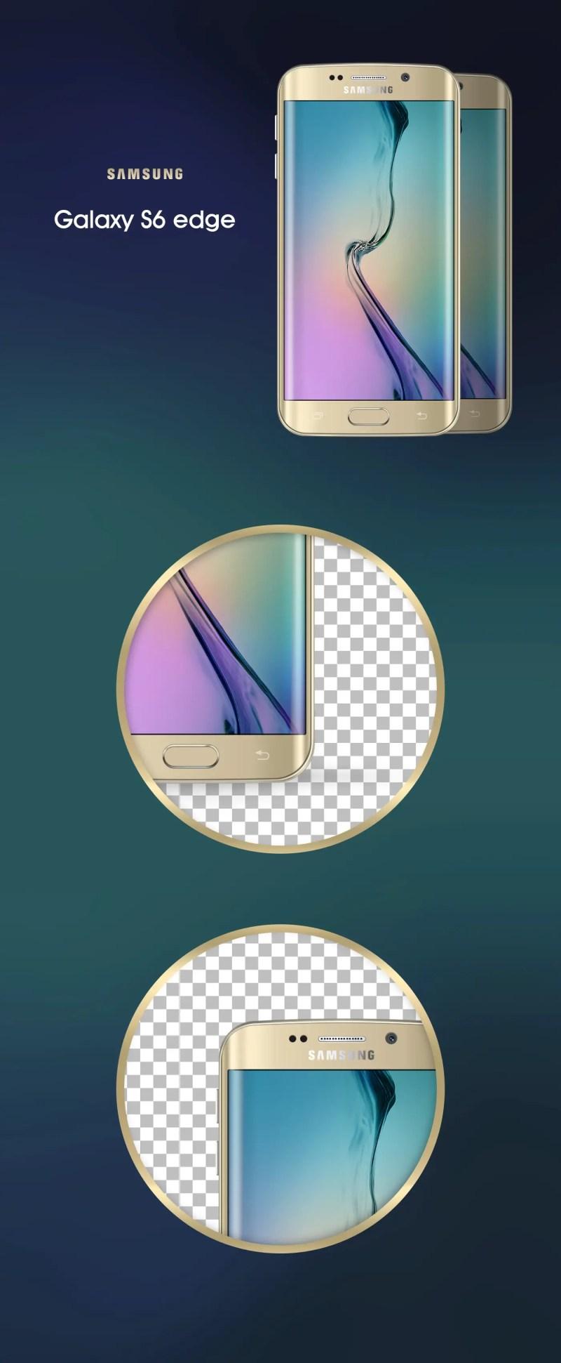 Samsung Galaxy Edge S6 Edge Mockup PSD