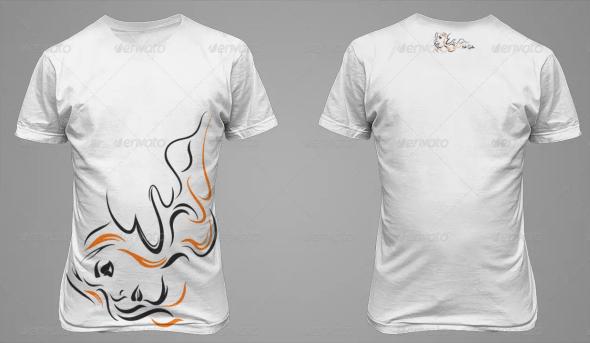 T-Shirt Mockup - Back and Front
