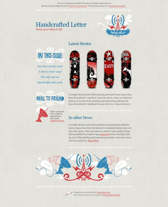 Worn Email Newsletter Template