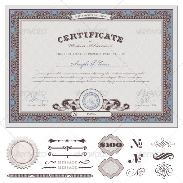 50+ Diploma And Certificate Templates In PSD Word Vector