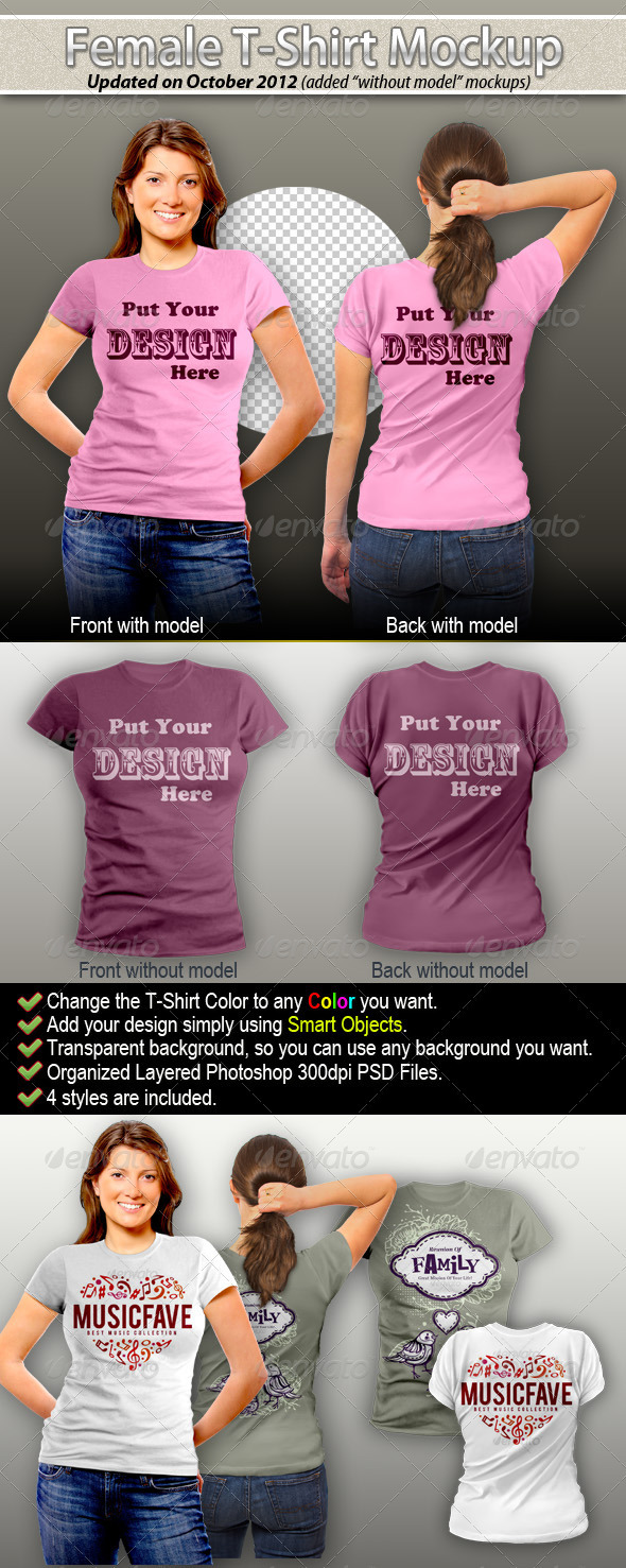 Female T-Shirt Mock-Up