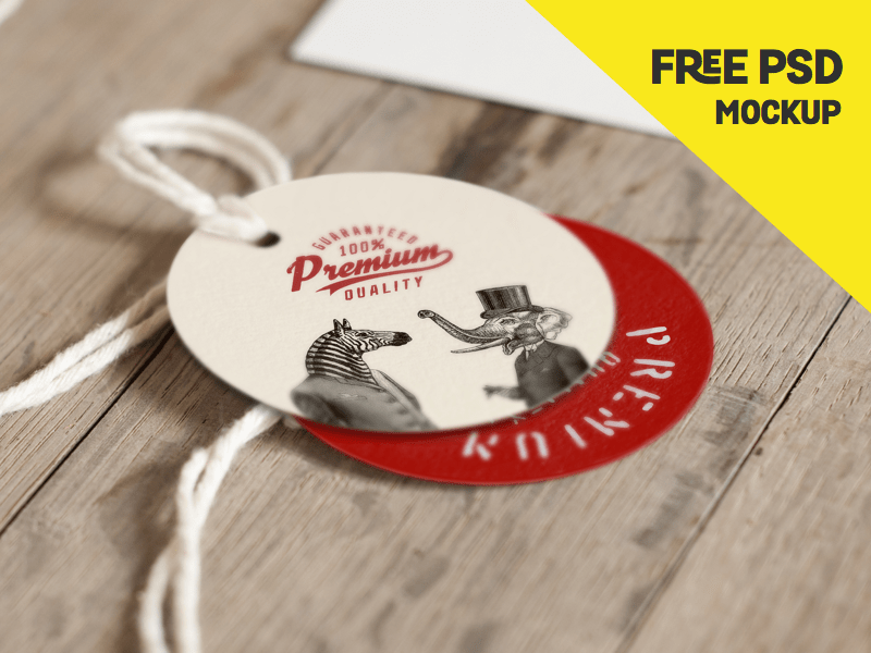 Free Label Mockup PSD
