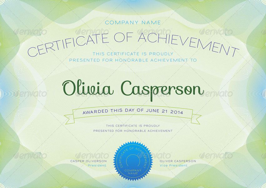 Modern Certificate and Diploma Template