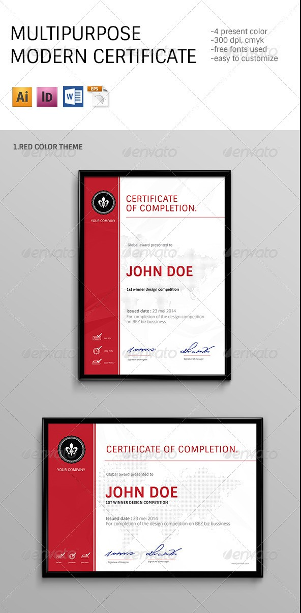 50 diploma and certificate templates in psd word vector eps modern multipurpose certificates templates yadclub