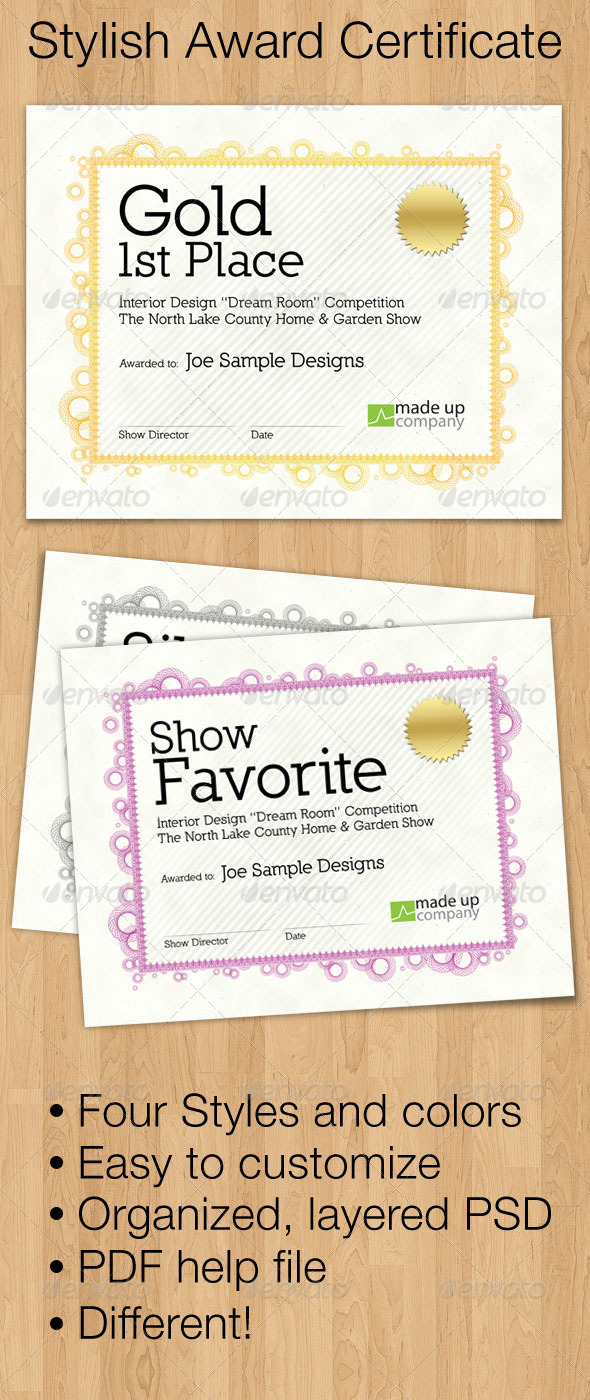 Stylish Award Certificate Templates