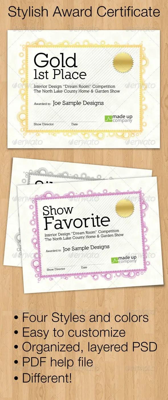 Stylish Award Certificate Templates