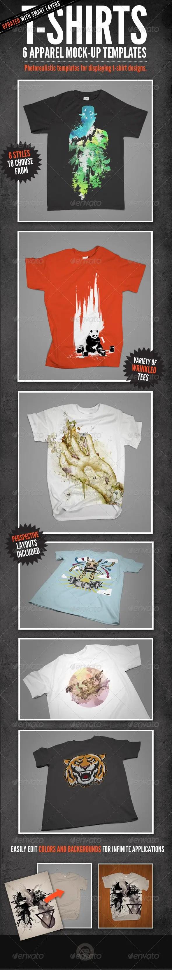 T-Shirt Mock-Ups - Apparel Design