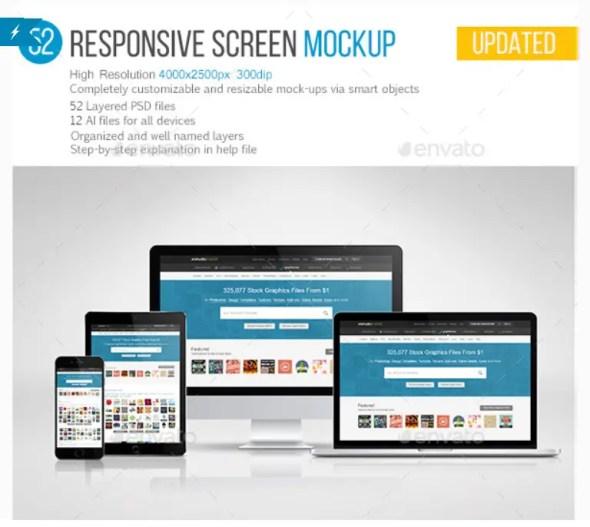 52 Responsive Screen Mockup