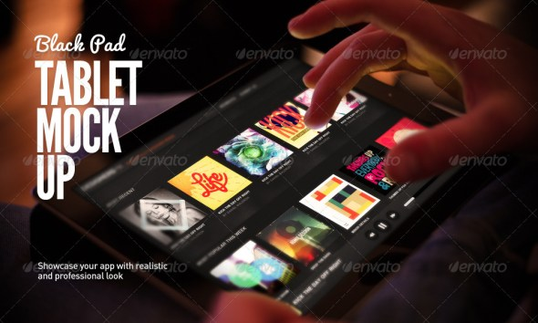 Black Pad - Tablet App UI Mock-Up