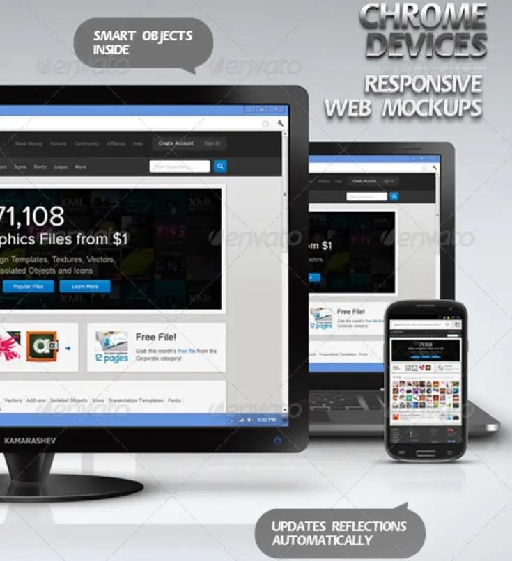 Chrome Devices - Responsive Web Mockups