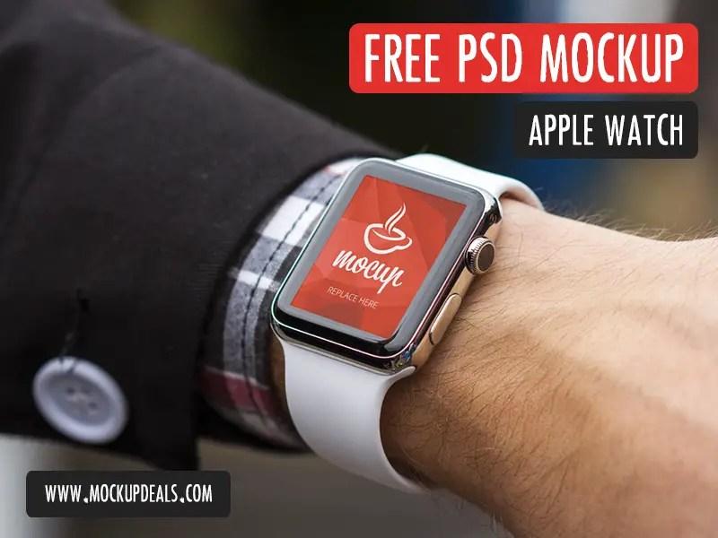 FREE PSD Apple Watch Mockup