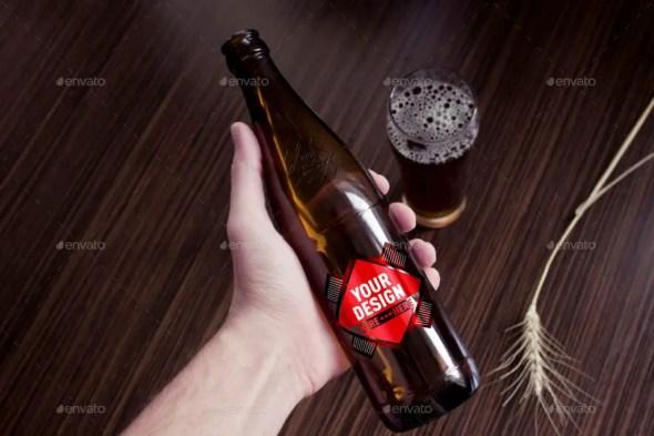 Grapulo's Beer Bottle Mockup