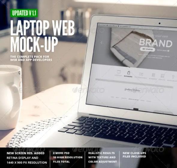 Laptop - Web App Mock-Up