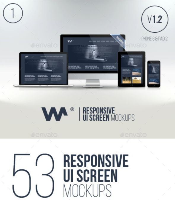 Responsive Website Devices & Screen Mockups