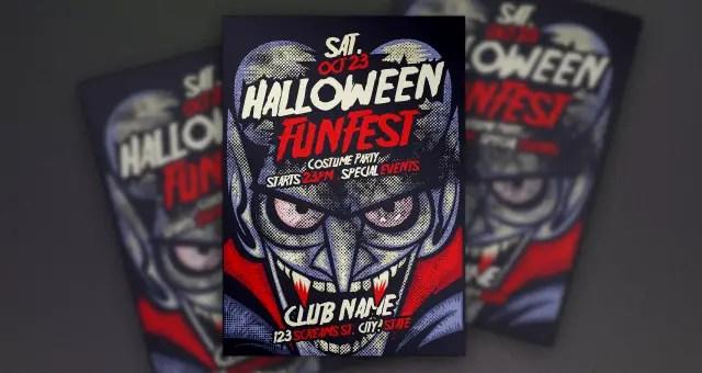 Vampire Halloween Flyer Template