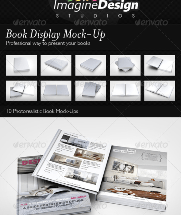 Book Display Mockup