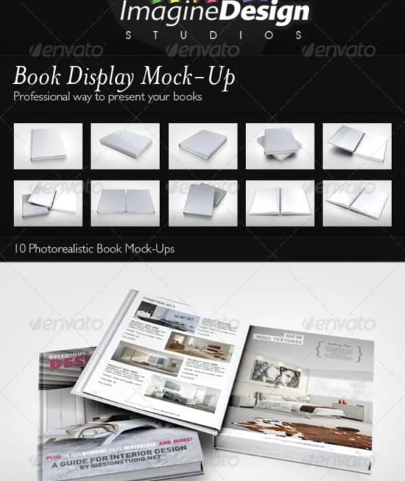 Book Display Mockup