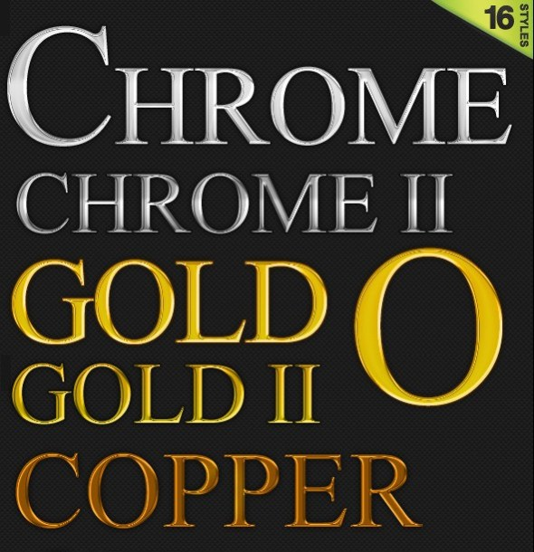 16 Quality Styles (Gold, Chrome, Glass and more)