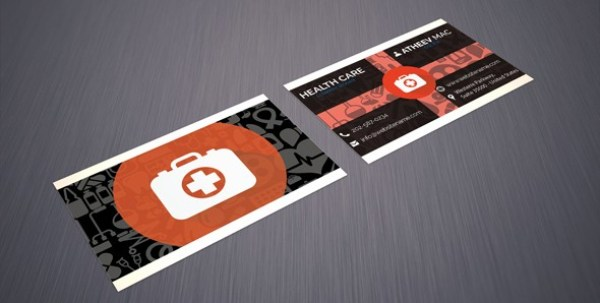 Free Clinic Business card PSD Template