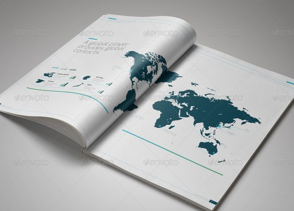 Annual Report DoubleInk - A4 and US Letter Size