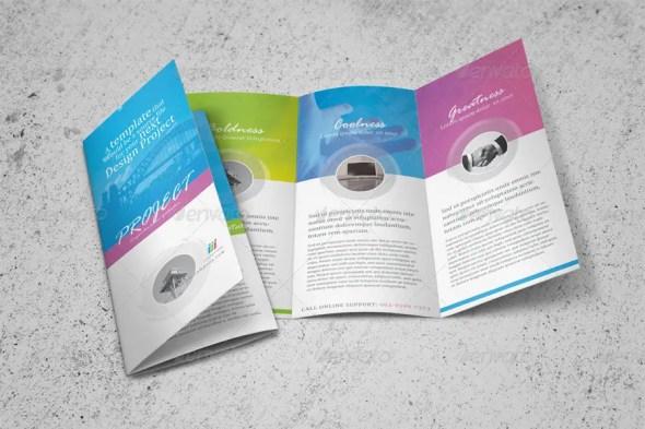 Clean Tri-fold Brochure Template