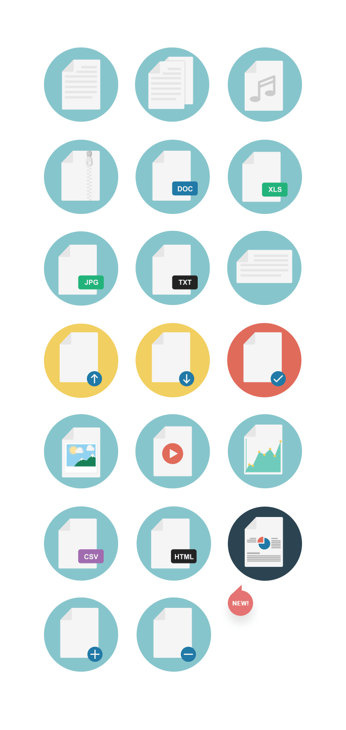 File Types Icons