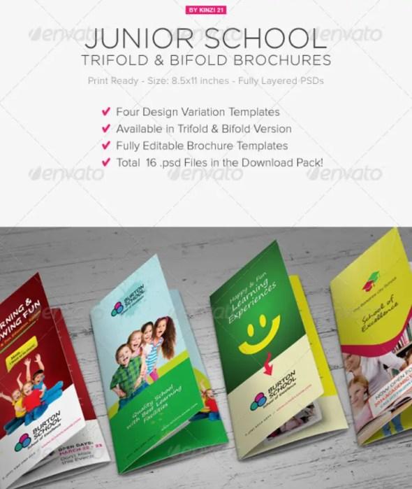 Junior School Tri-Fold & Bi-Fold Brochures