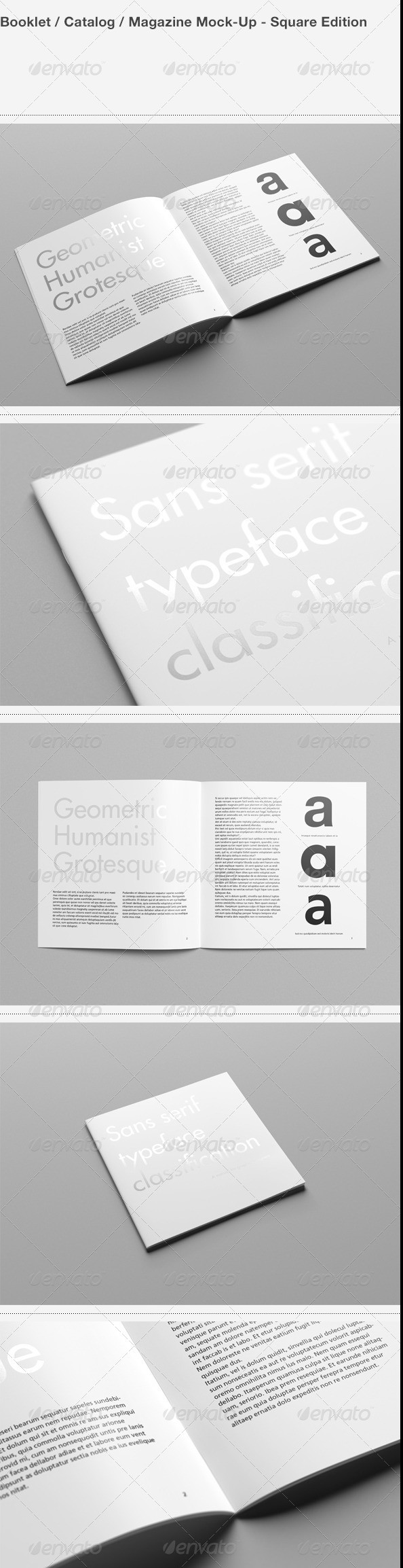 Square Magazine Mock-Up
