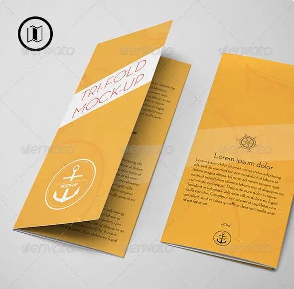 Tri-Fold Brochure Mockup / US Standard