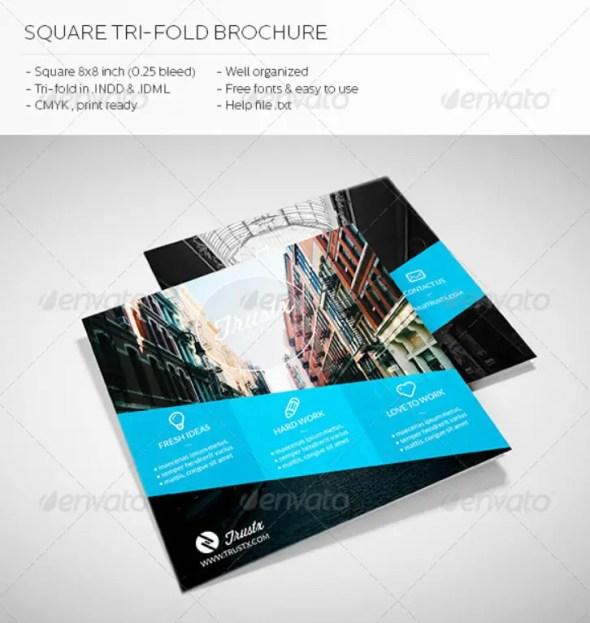 Trustx - Square Tri-Fold Brochure
