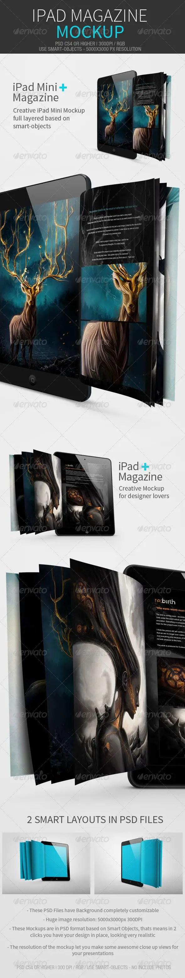 iPad Magazine Mockup