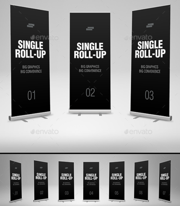 20 psd roll up banner mockup for advertising banners psdtemplatesblog. Black Bedroom Furniture Sets. Home Design Ideas
