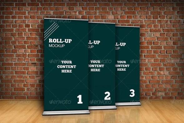 Studio Roll Up Mockup - 100x200 cm
