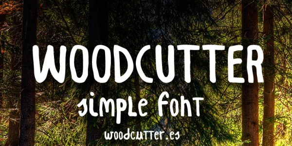 Woodcutter Simple Font
