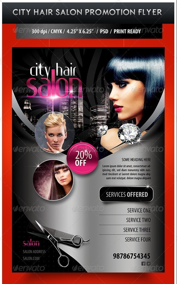 City Hair Salon Promotional Flyer