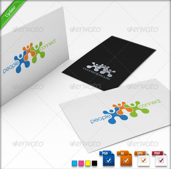 Connect People Logo Template