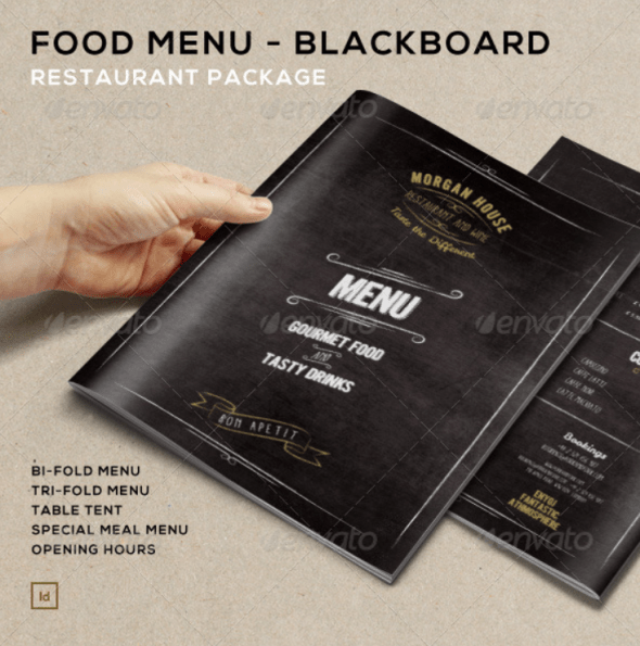 Food Menu - BlackBoard Restaurant Package