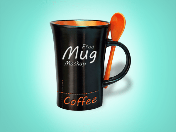 Free Black Mug Mockup PSD