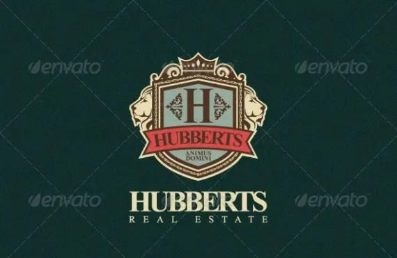 Hubberts Royal Crest Logo Template