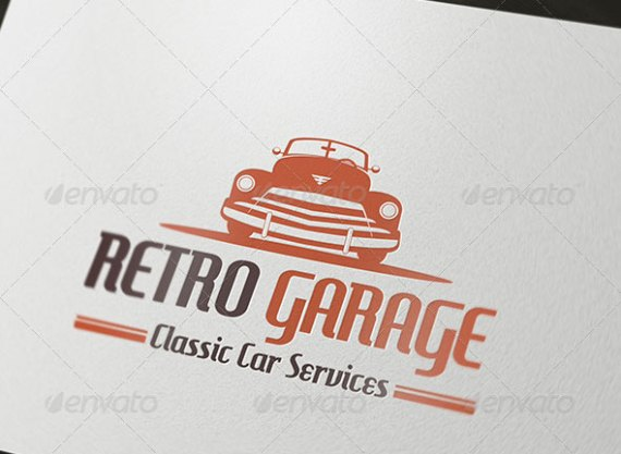 Retro Garage Logo
