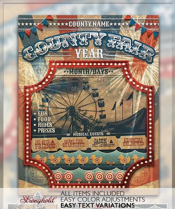 Vintage County Fair Carnival Flyer