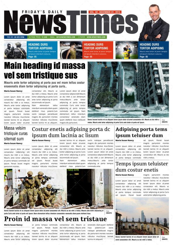 24 Page Newspaper Indesign Template v3