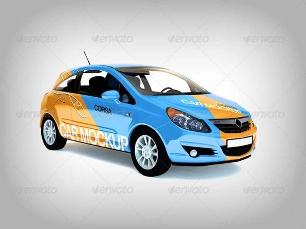 3in1 Car Branding Mockup