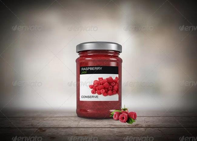 6 Jam Jar Flavors Mockup