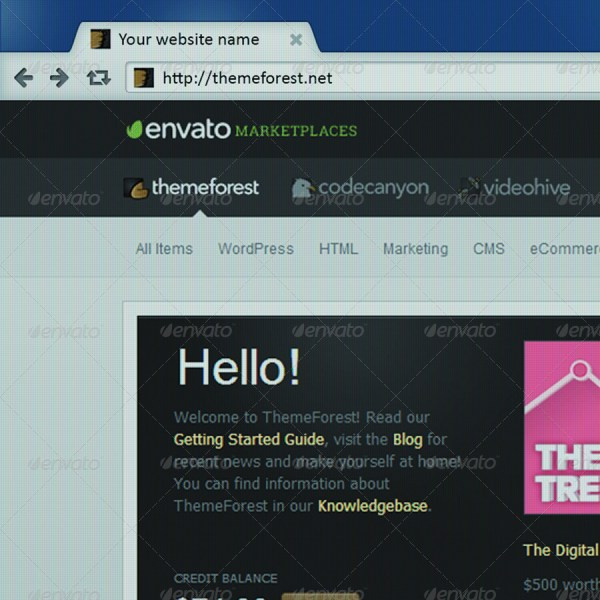7 Photorealistic Web Browser Mockups