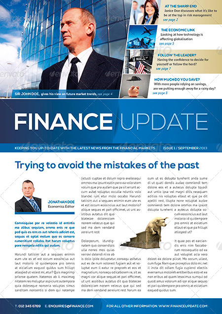 8 Page Business and Corporate Newsletter