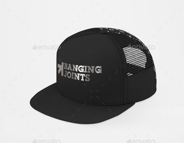 Baseball Trucker Full Cap Mockup