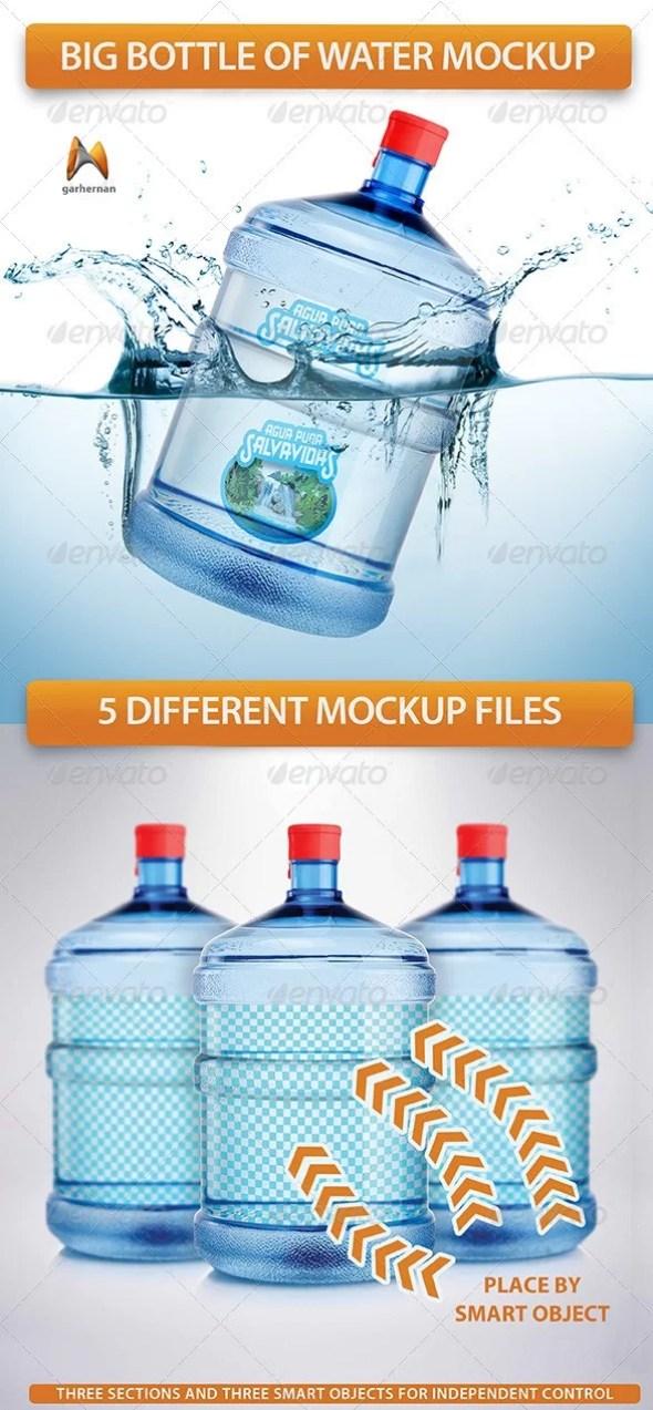 Big Bottle of Water Mockup